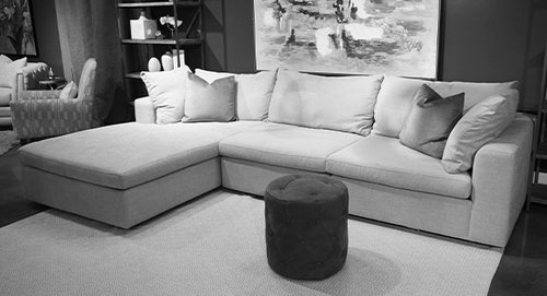 "Layout B:  Three Piece Sectional (Chaise Left Side) 84"" x 131"""