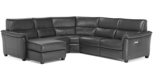 "Layout F: Five Piece Reclining Sectional (Chaise Left Side) - 116"" x 111"""