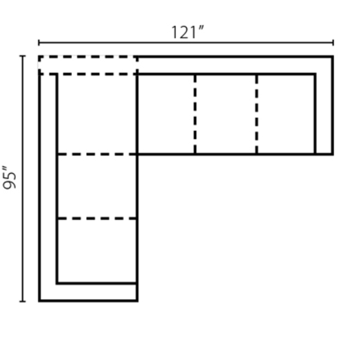 "Layout C:  Two PIece Sectional 95"" x 121"""