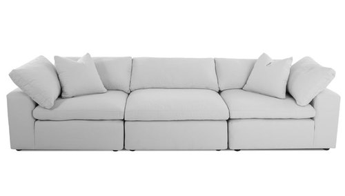 "Layout F: Three Piece Sectional 133"" Wide"