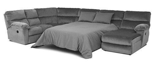 "Layout C: Four Piece Reclining Sleeper Sectional 99"" x 148"" x 71"""