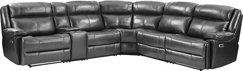 "Layout A:  Six Piece Reclining Sectional 131"" x 118"" x 42"""