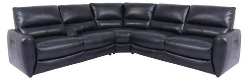 "Layout A:  Six Piece Reclining Sectional 118"" x 131"" x 41"""