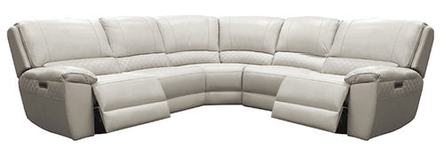 "Layout A:  Six Piece Reclining Sectional 125"" x 112.5"" x 41"""