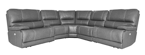 "Layout A:  Six Piece Reclining Sectional 122"" x 135"" x 42"""