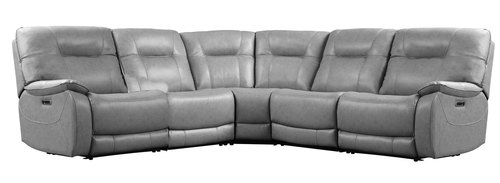 "Layout A:  Six Piece Reclining Sectional 131"" x 118.5"" x 43"""