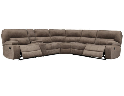 "Layout B: Six Piece Reclining Sectional 132"" x 119"""