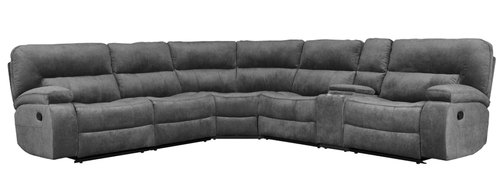 "Layout A: Six Piece Reclining Sectional 132"" x 119"""