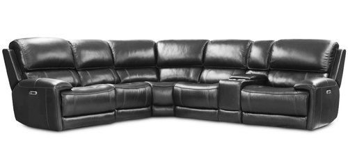 "Layout B: Six Piece Reclining Sectional  113"" x 126"""