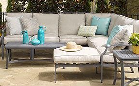 Layout A: 6 Piece Outdoor Sectional