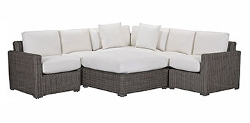 Layout A:  5 Piece Outdoor Sectional (Ottoman Purchased Separately)