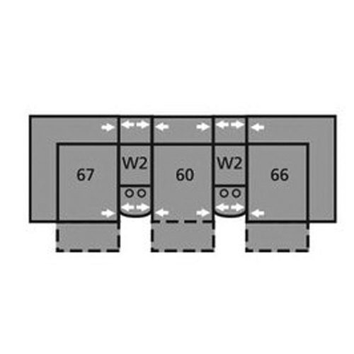 "Layout C: Five Piece Sectional 114"" Wide"