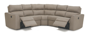 "Layout B: Three Piece Reclining Sectional 97"" x 97"""