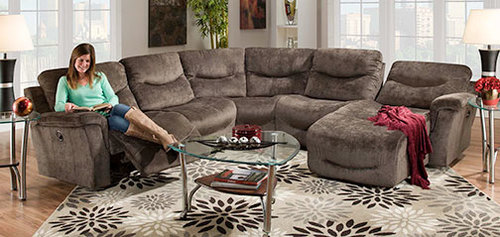 Five Piece Reclining Sectional (w/ 4 Recliners)