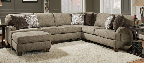 Two Piece Sectional w/ Chaise Ottoman