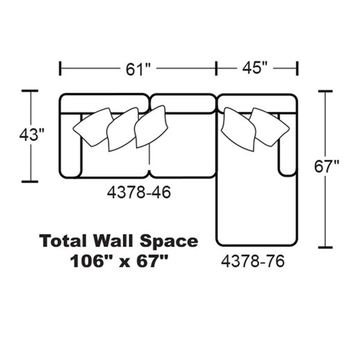 "Layout G: Two Piece Sectional 106"" x 67"""
