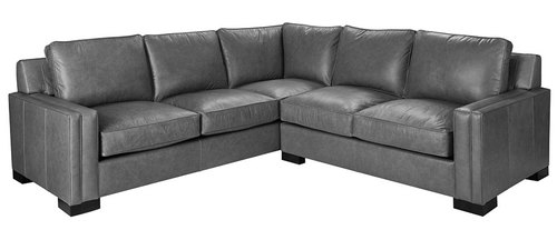Three Piece All Leather Sectional