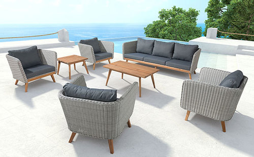 Seven Piece Outdoor Living Room
