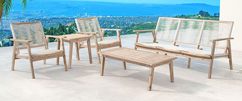 Four Piece Outdoor Living Room Collection