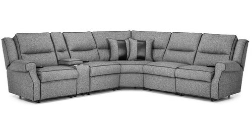 Six Piece Power Headrest Reclining Sectional