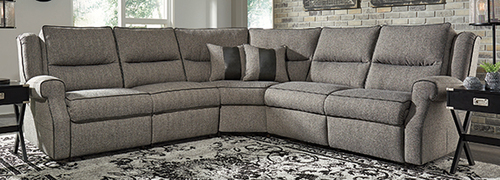 Five Piece Reclining Sectional w/ Power Headrest