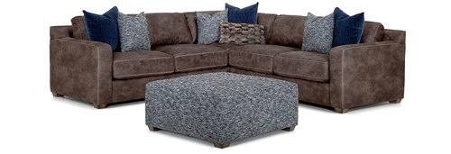 Three Piece Sectional (Oversized Ottoman Available)