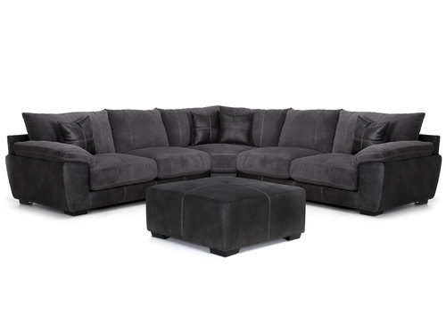 "Layout A: Three Piece Sectional (Ottoman Available) 120"" x 120"""