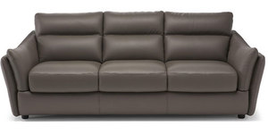 "Natuzzi 87"" Affetto Top Grain Leather Sofa"