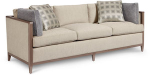 "Cityscape 89"" Wood Trimmed Sofa"