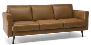 Natuzzi Destrezza Sofa...Italian Styled in Top Grain Leather (Choice of Colors)