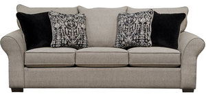 "Maddox 96"" Sofa in Fossil...Includes all 4 Pillows"