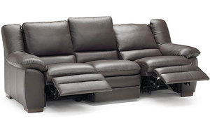 Prudenza Dual Reclining Sofa in Top Grain Leather (The Best)