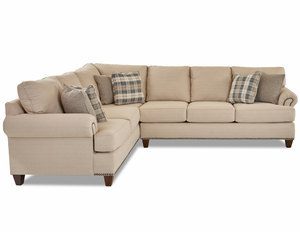 Julienne 864 Three Piece Sectional - Pillows Included