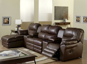 Divo 41045   46045 Reclining Sectional   450 Leathers And Fabrics