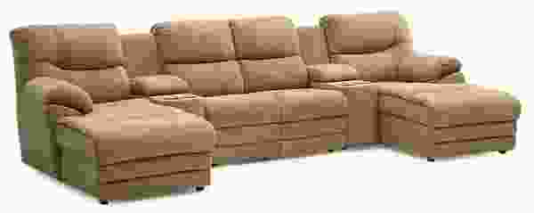 Divo 41045 - 46045 Reclining Sectional - 450 Leathers and Fabrics