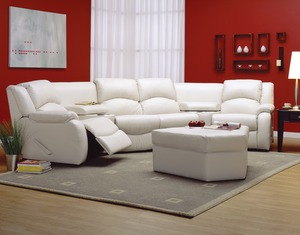 dane reclining sectional 450 leathers and fabrics