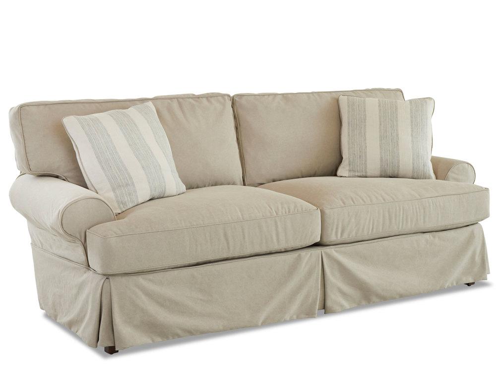 Lahoya D28100 Slip Cover Sofa With Down, Slip Cover Sofas