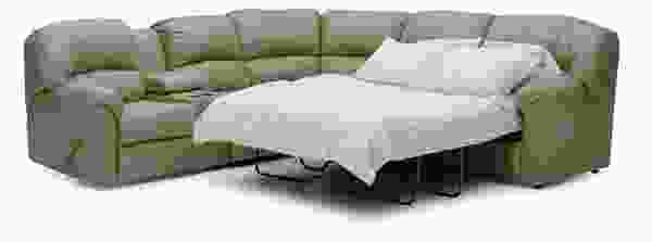 Callahan 41072 - 46072 Reclining SLEEPER Sectional - 450 Leathers and Fabrics