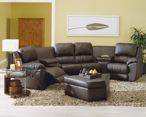 Benson 41164   46164 Reclining Sectional   450 Fabrics And Leathers