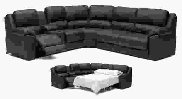 Benson 41164 - 46164 Reclining SLEEPER Sectional - 450 Leathers and Fabrics