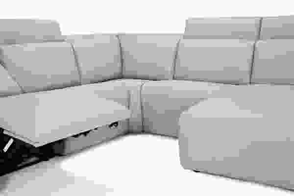 Springfield 41638 - 46638 Reclining Sectional - 450 Leathers and Fabrics