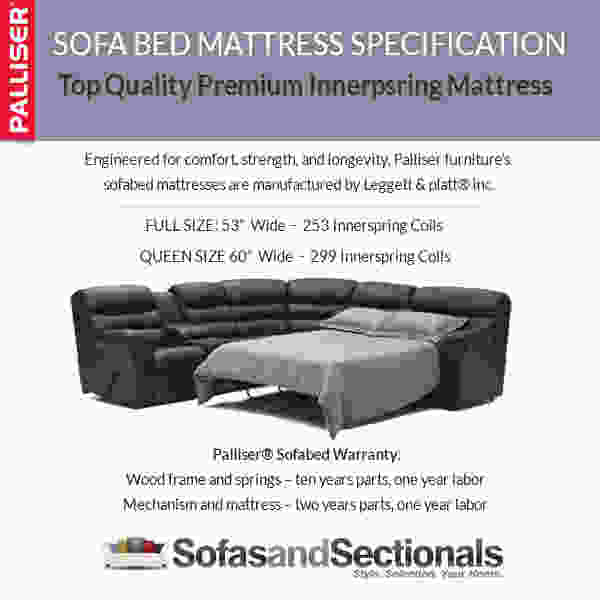 Charleston 41104 - 46104 Reclining SLEEPER Sectional - 450 Leathers and Fabrics