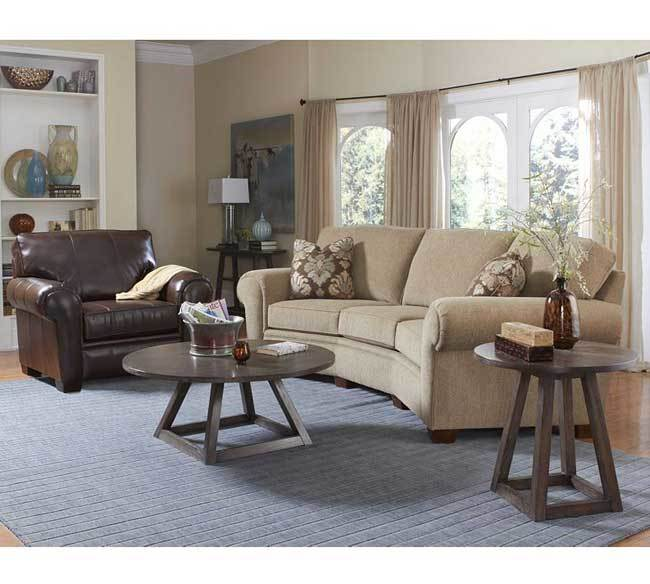 The Broyhill Miller 5300 Conversation Sofa Has Classic Styling To It And Is  Also Angled To Provide For More Engaging Conversation.