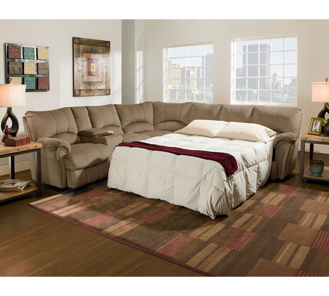 Alpine Reclining Sleeper Sectional 204