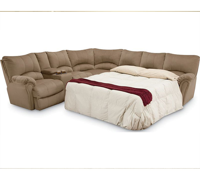 Peachy Alpine Reclining Sleeper Sectional 204 Sofas And Sectionals Ibusinesslaw Wood Chair Design Ideas Ibusinesslaworg