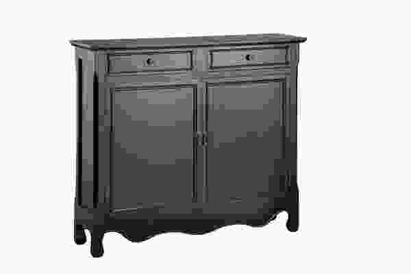 Clarridon Cupboard Two Door, Two Drawer in Black