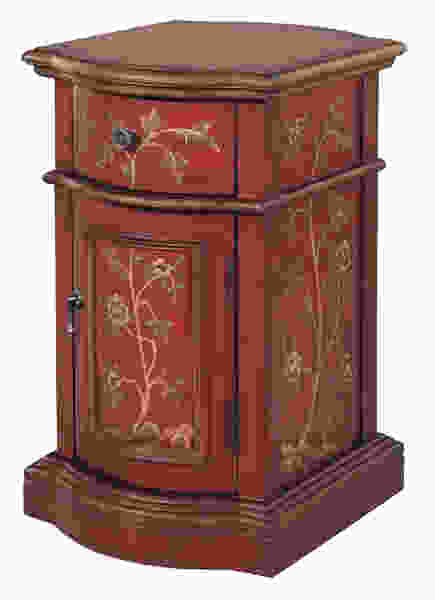 Reia Antique Red, Brown Accent Cabinet