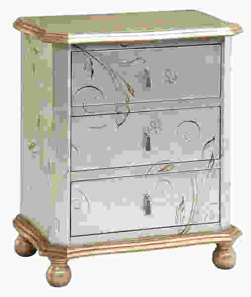 Celeste Silver, Gold Accent Chest