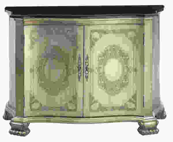 Beverly Pewter, Black Accent Cabinet