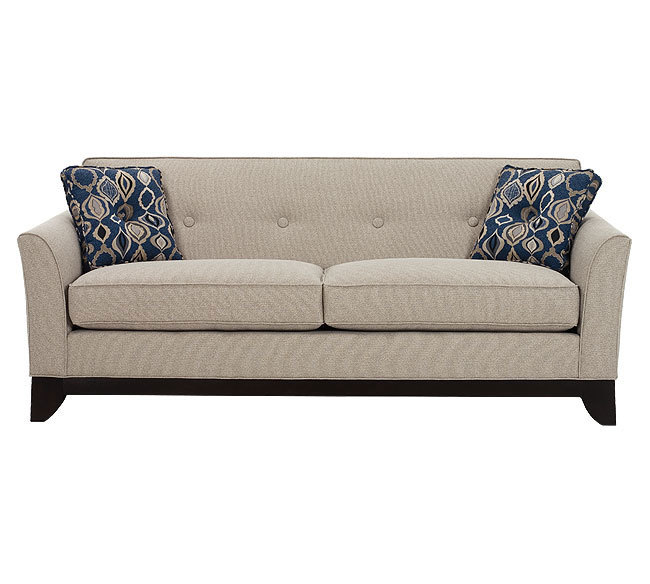 Therowe Berkeley Sofa Collection Is Ideally Placed In A Traditional Living Room Setting The Slightly Flared Arms Exposed Wood Base With Feet And